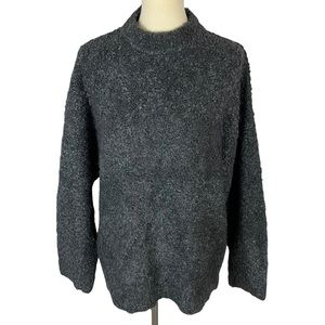 Topshop Fuzzy Gray Oversized Fall Winter Soft Sweater